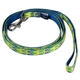 Jonathan Adler Dog Leash - Blue Bargello