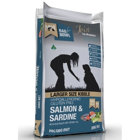 M4M Salmon & Sardine Larger Kibble Dry Dog Food 20kg