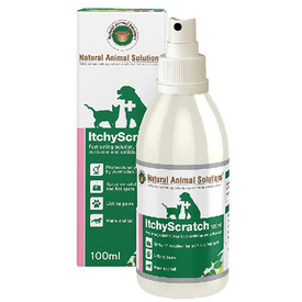 Natural Animal Solutions Itchy Scratch Skin Treatment for Cats & Dogs - 100ml