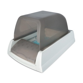 The Scoopfree Ultra Automatic Self-Cleaning Litter Box with Grey Hood
