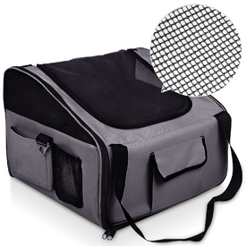 Car Booster Seat & Carrier Bag for Dogs - Large Grey