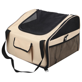 Car Booster Seat & Carrier Bag for Dogs - Large Beige