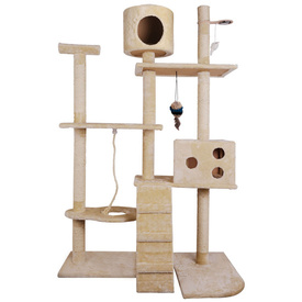 Deluxe Cat Scratching Post and Play Centre - Beige 170cm