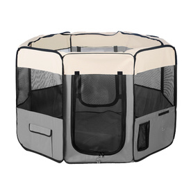 Dog Playpen - Exercise Pen for Puppies, Dogs & Cats - X-Large Grey