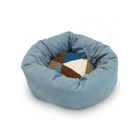 "Snooza Cuddler Dog Bed ""Paragon Teal"" with Metro Sky Cushion"