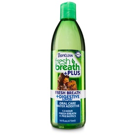 Tropiclean Fresh Breath Water Additive + Digestive Support for Dogs 473ml