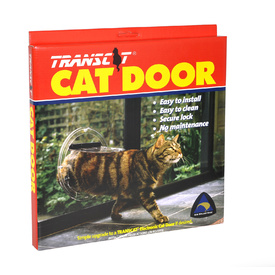 Transcat Clear Pet Cat and Dog Door - Small