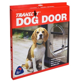 Transcat Clear Pet Dog or Cat Door - Large