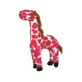 Mighty Safari Dog Toy - Pink Gina the Giraffe Junior