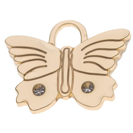 "Engraved Pet ID Tag ""Butterfly Bling Gold"" by Hamish McBeth"