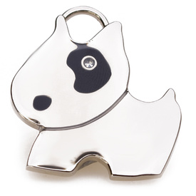 "Engraved Pet ID Tag ""Bull Terrier Silver"" by Hamish McBeth"