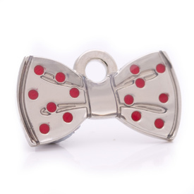 "Engraved Pet ID Tag ""Bowtie Silver"" by Hamish McBeth"