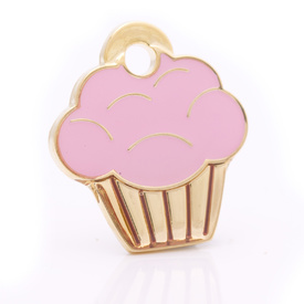 "Engraved Pet ID Tag ""Cupcake Gold"" by Hamish McBeth"