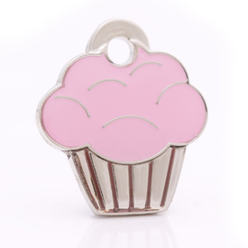 "Engraved Pet ID Tag ""Cupcake Silver"" by Hamish McBeth"