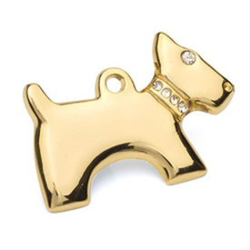 "Engraved Pet ID Tag ""Dog Gold"" by Hamish McBeth"