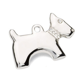 "Engraved Pet ID Tag ""Dog Silver"" by Hamish McBeth"