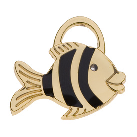 "Engraved Pet ID Tag ""Fish Gold"" by Hamish McBeth"