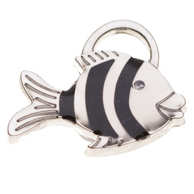 "Engraved Pet ID Tag ""Fish Silver"" by Hamish McBeth"