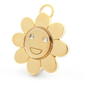 "Engraved Pet ID Tag ""Flower Gold"" by Hamish McBeth"