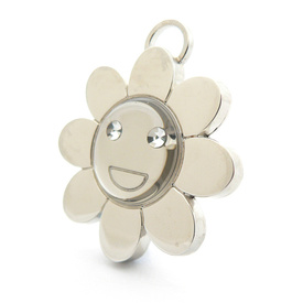 "Engraved Pet ID Tag ""Flower Silver"" by Hamish McBeth"