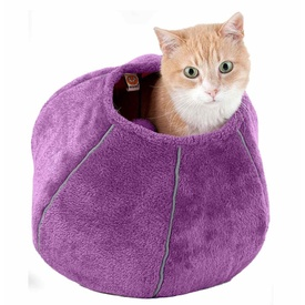 United Pets Plush Cat Bed Cave