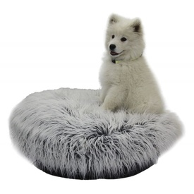 T&S Nordic Plush Round Pet Bed