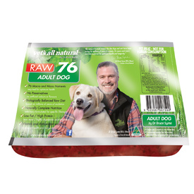 Vets All Natural RAW76 Adult Dogs 800g - Frozen - In Store Pickup Only