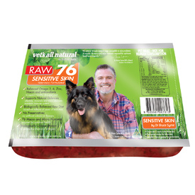 Vets All Natural RAW76 Sensitive Skin 800g - Frozen - In Store Pickup Only