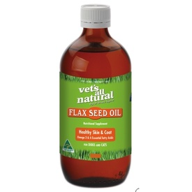 Vets All Natural Flax Seed Oil for Cats and Dogs 200ml/500ml