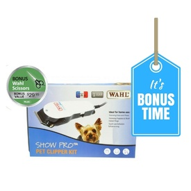 Wahl Show Pro Pet Clipper Kit with *BONUS* Scissors