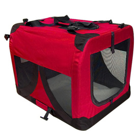 Portable Soft Collapsible Pet Crate & Carrier - Red