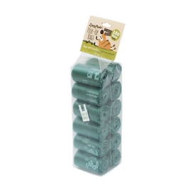 Zippy Paws Poo Bag Rolls - Green 180 Bags with Handles