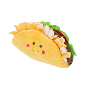 Zippy Paws NomNomz Squeaker Dog Toy - Taco