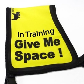 "Black Dog ""Give Me Space"" Awareness Vest"