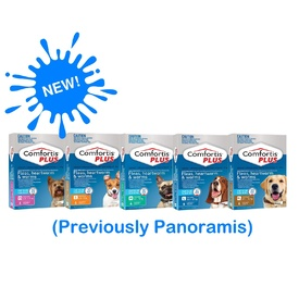 Comfortis PLUS (previously Panoramis) for Dogs Kills Fleas, Worm & Heartworm - 3 Pack