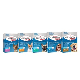 Comfortis PLUS (previously Panoramis) for Dogs Kills Fleas, Worm & Heartworm - 6 Pack