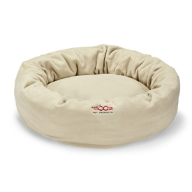 "Snooza Cuddler Dog Bed in Polar Fleece ""Sand"" - Medium"