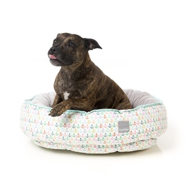 "FuzzYard Reversible Dog Bed - ""Ahoy"" with Anchors!"