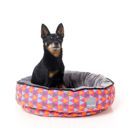 "FuzzYard Reversible Dog Bed - ""Crush"" Mutli-coloured Triangles!"