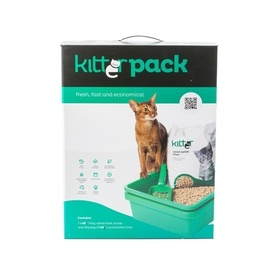 Kitter Litter Pack with Sieve Trays, Scoop & Wood Pellet Litter
