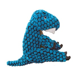 KONG Dynos Blue T-Rex Squeaker Dog Toy