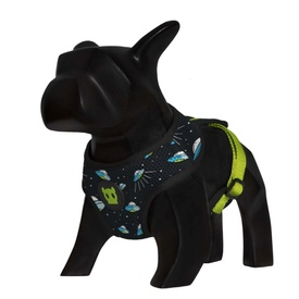 "Zee Dog ""Area 51"" Soft Mesh Harness with UFOs for Dogs"