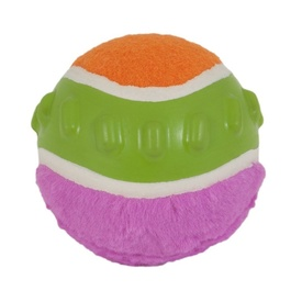 JW Mixups Ribbed Tough Dog Ball with Squeaker