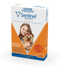 Sentinel Spectrum for Very Small Dogs up to 4kg (Orange)