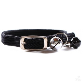 High Street Elastic Cat Collar with Double Bells - All Colours Available!