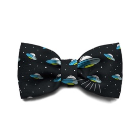 "Zee Dog Bow Tie for Cats or Dogs - ""Area 51"" UFOs"