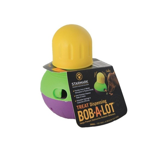 Starmark Bob a Lot Interactive Treat Dispenser Dog Toy - Small