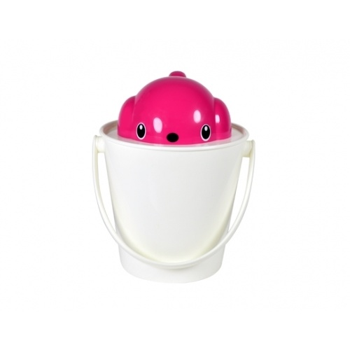 Crock Pet Food & Treat Container w/scoop by United Pets - Pink/White
