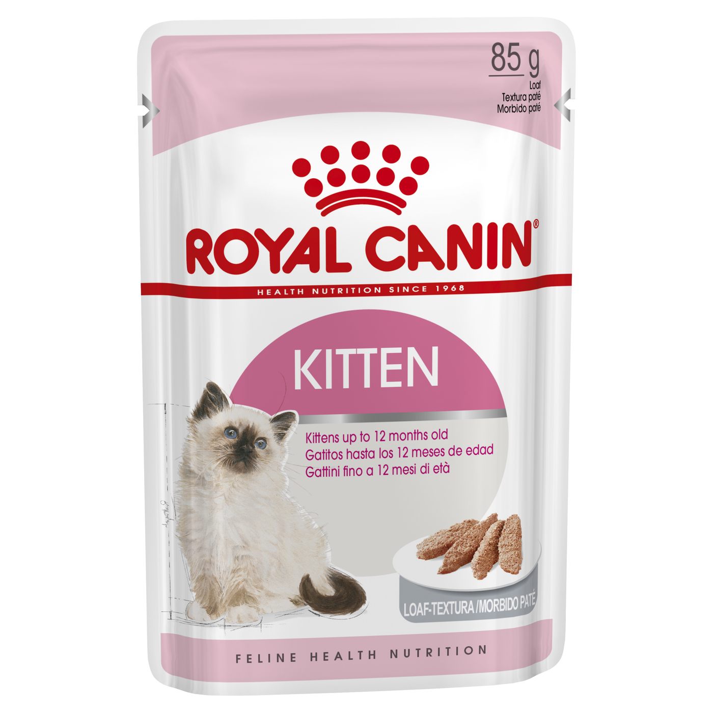 Royal Canin Instinctive Loaf Moist Kitten Food (up to 12 months) x 12 Pouches image 0