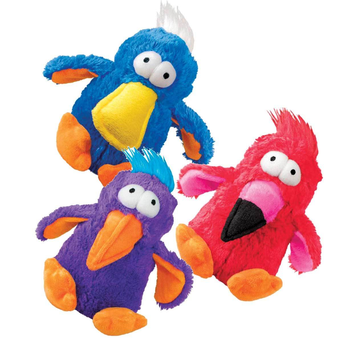 KONG Dodo Plush Squeaker Dog Toy in Assorted Colours image 0